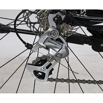 Weihnachten Geschenk extrbici XC700Sports Racing Road Bike Pro 700cx700mm Rad 56cm leichte Aluminium-Legierung Rahmen 14Speed Shimano 2300Shift Gears Mans Road Fahrrad Doppel Mechanische Scheibenbremsen, blau - 4