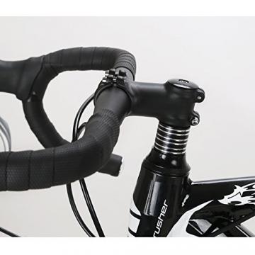 Weihnachten Geschenk extrbici XC700Sports Racing Road Bike Pro 700cx700mm Rad 56cm leichte Aluminium-Legierung Rahmen 14Speed Shimano 2300Shift Gears Mans Road Fahrrad Doppel Mechanische Scheibenbremsen, blau - 6