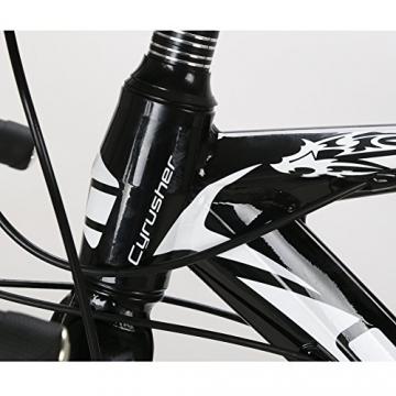 Weihnachten Geschenk extrbici XC700Sports Racing Road Bike Pro 700cx700mm Rad 56cm leichte Aluminium-Legierung Rahmen 14Speed Shimano 2300Shift Gears Mans Road Fahrrad Doppel Mechanische Scheibenbremsen, blau - 7
