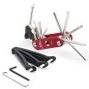 Wotow 16-in-1-Multifunktions-Reparatursatz für die Fahrrad-Reparatur, Kit mit Innensechskantschlüsseln und 3Stemmeisen, 14 in 1 tool red - 1